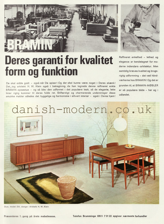Danish ad for Bramin