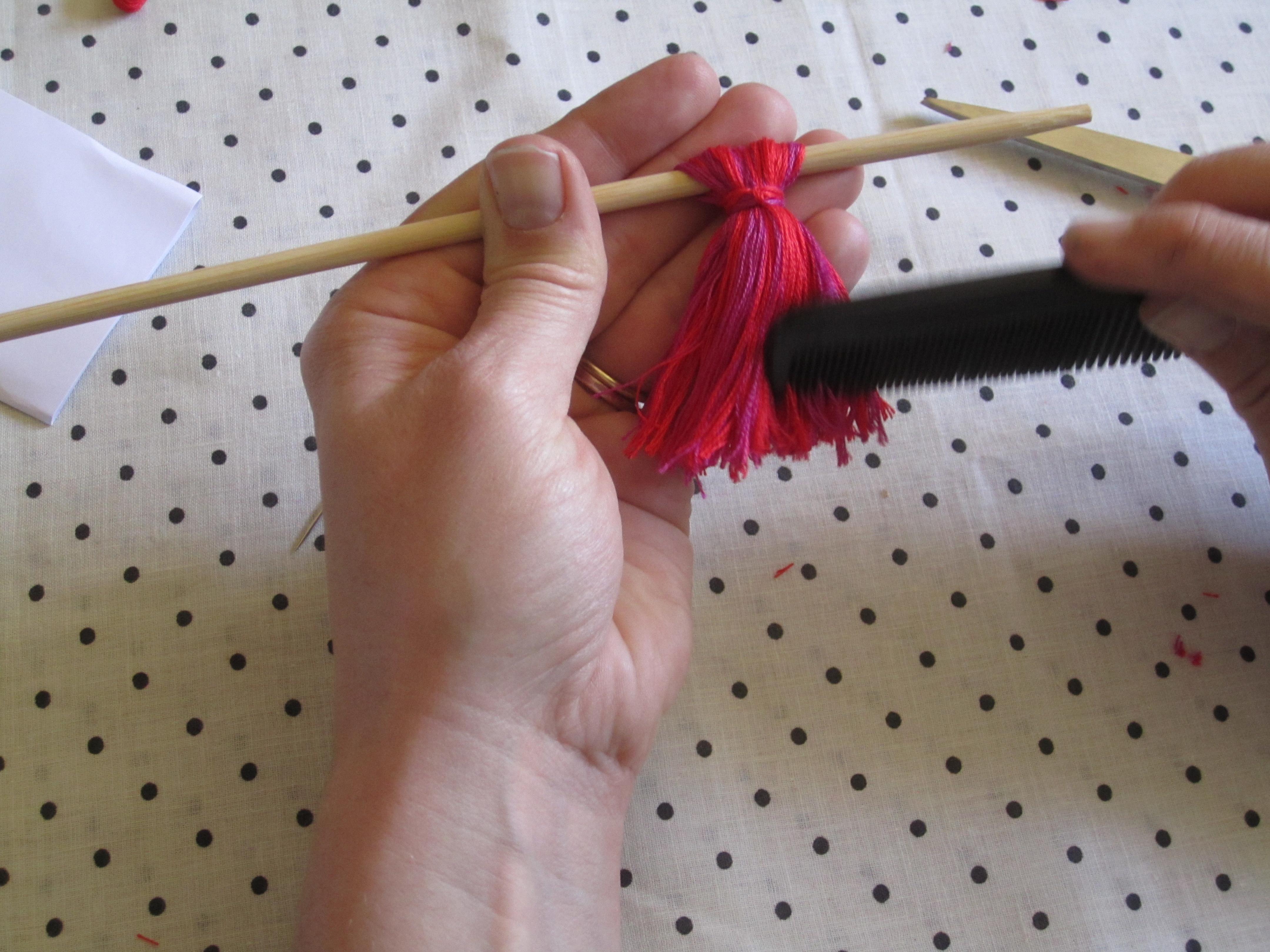 combing the tassel