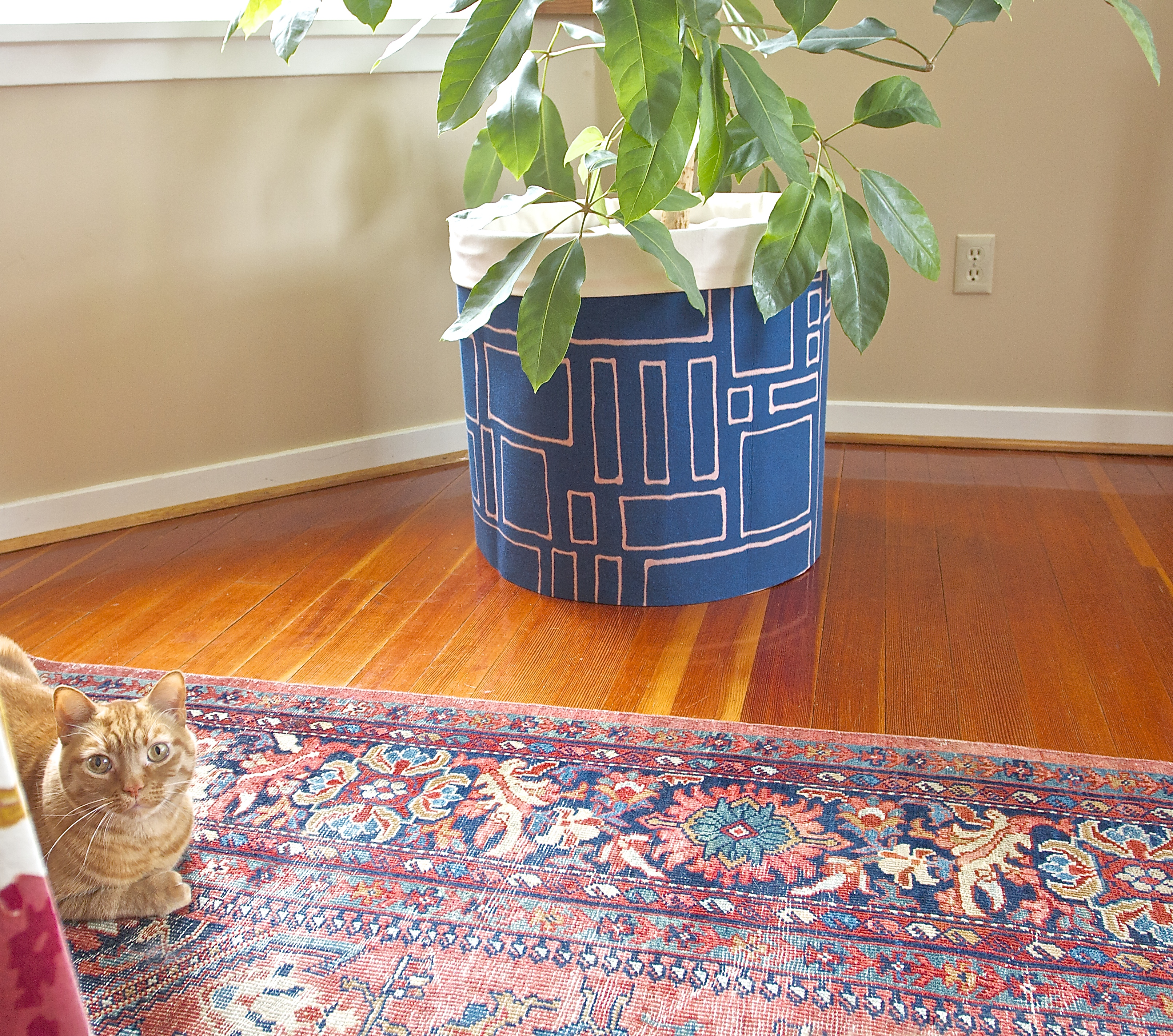 Bleach printed planter