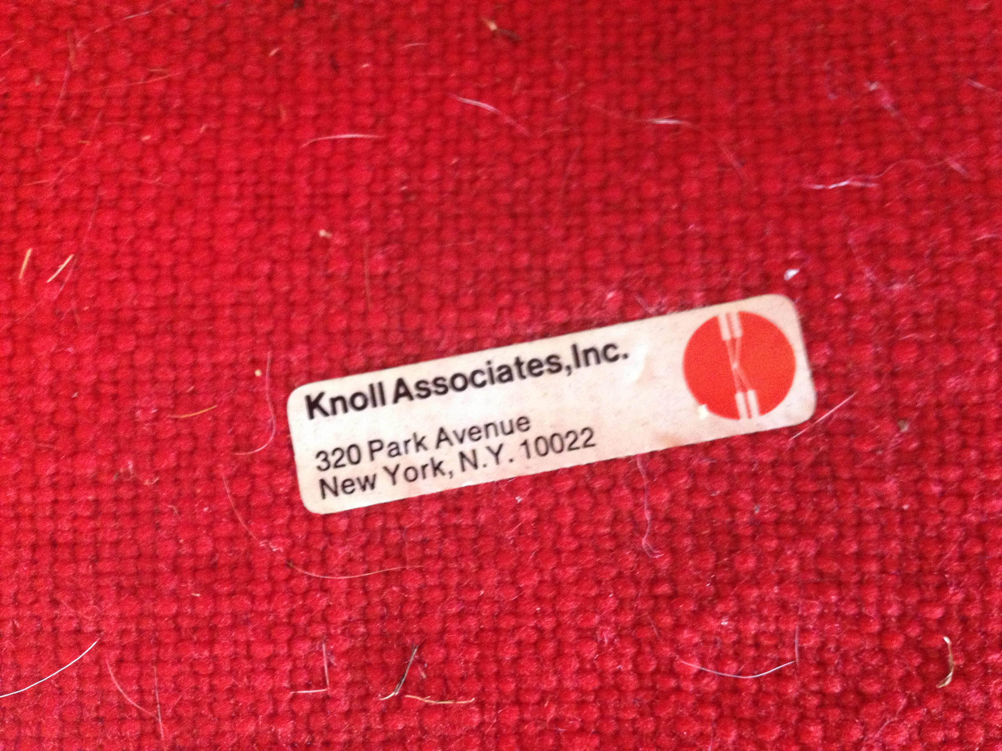 In my online research, I learned that this style of tag suggests the chair was made around 1959