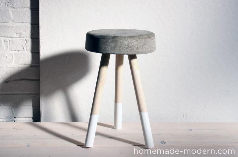 bucket stool from Homemade Modern