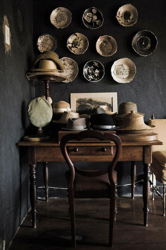 Black and White plates on wall
