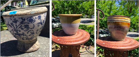 Thrifted Pots