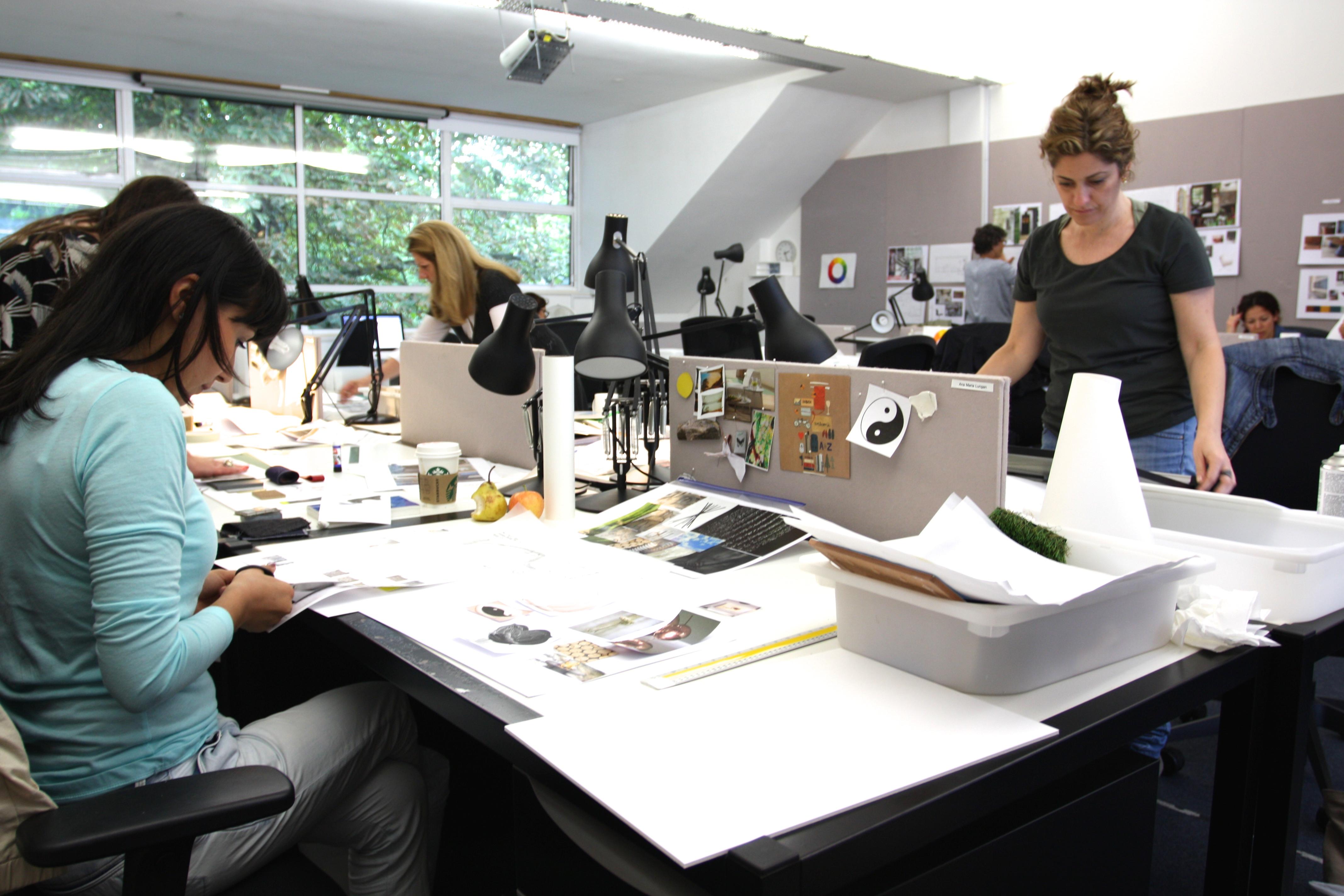 Designers at work.