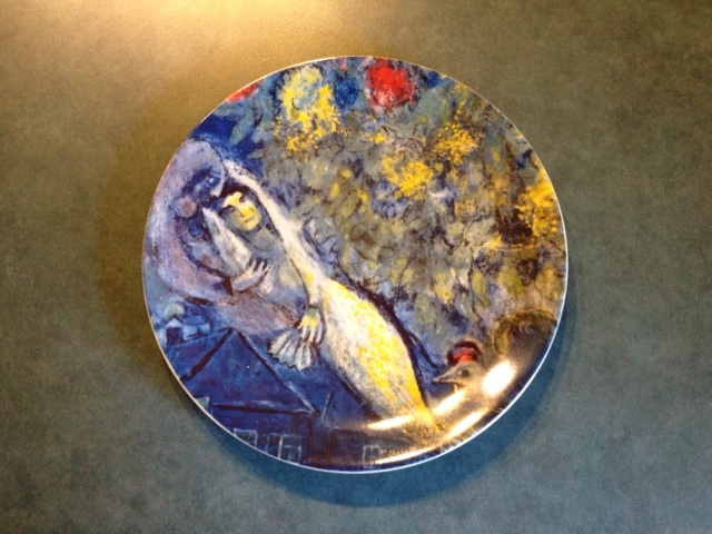 Judy's Chagall plate