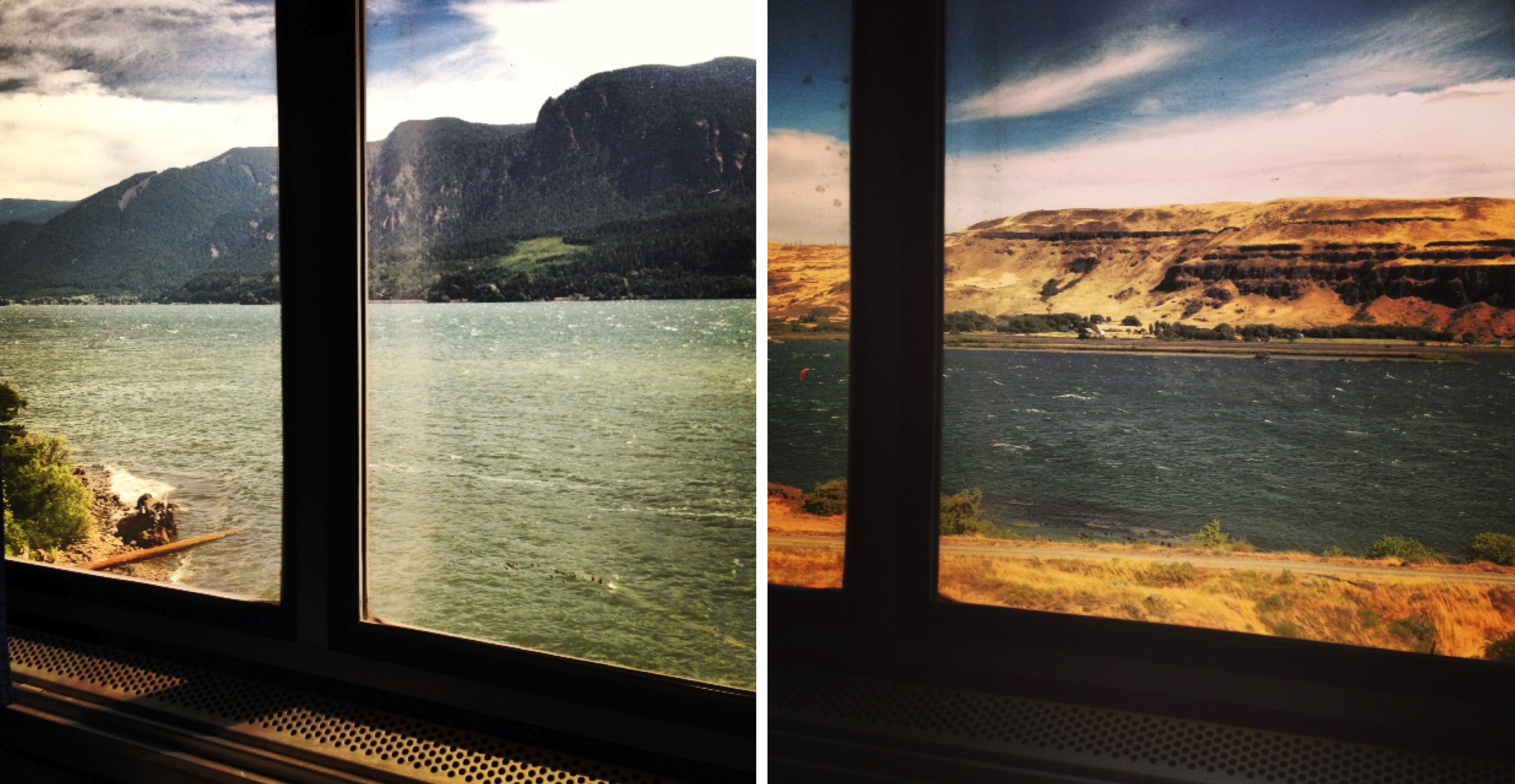 Through the train window, from west (left) to east
