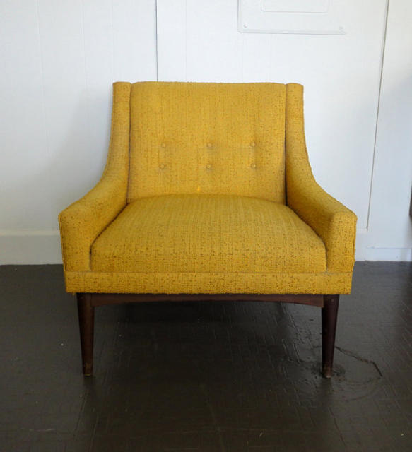 Mid century modern red house west for Mid century modern upholstered chair
