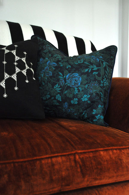 red house west//envelope pillows with piping