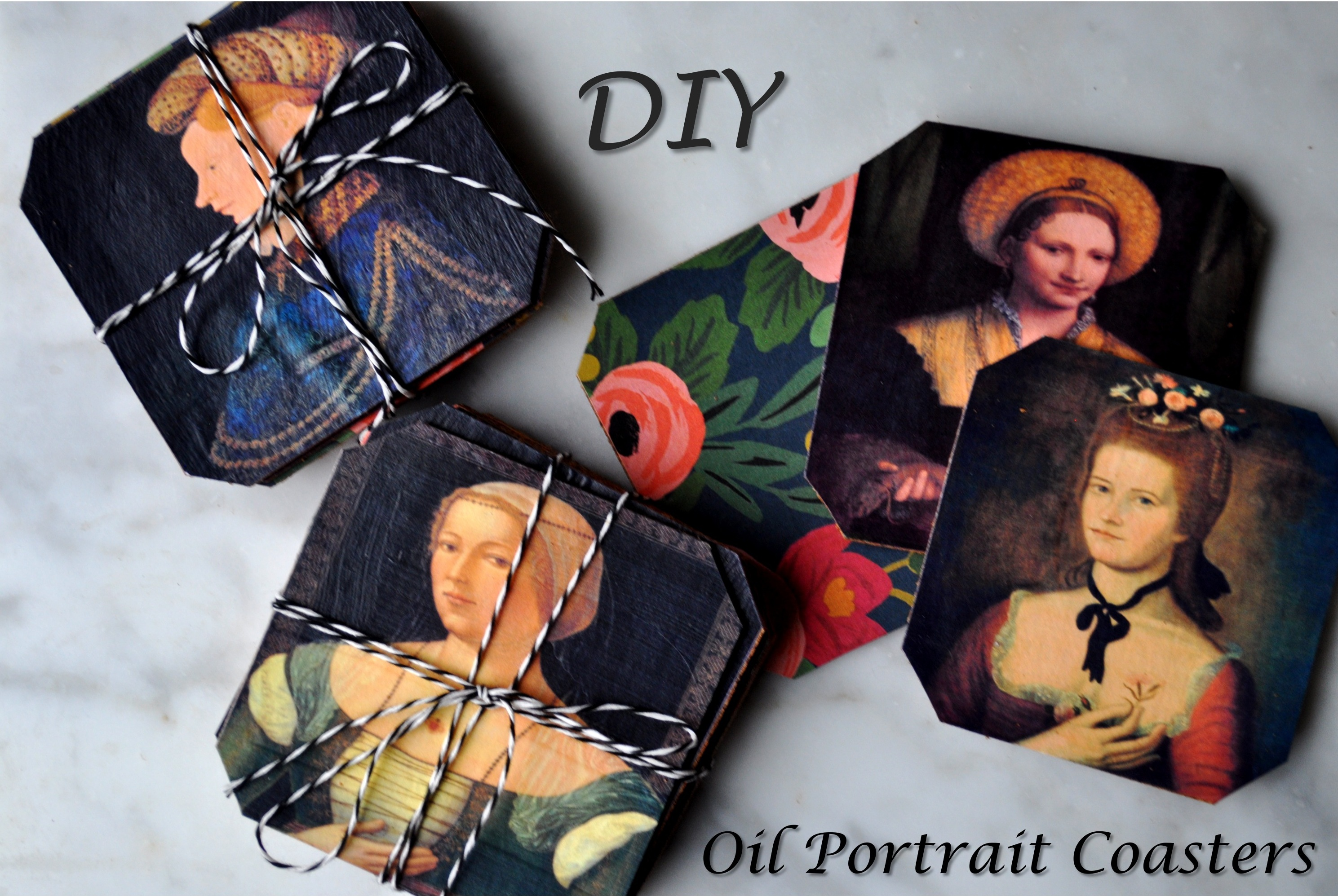 Red House West//Oil Portrait Coasters