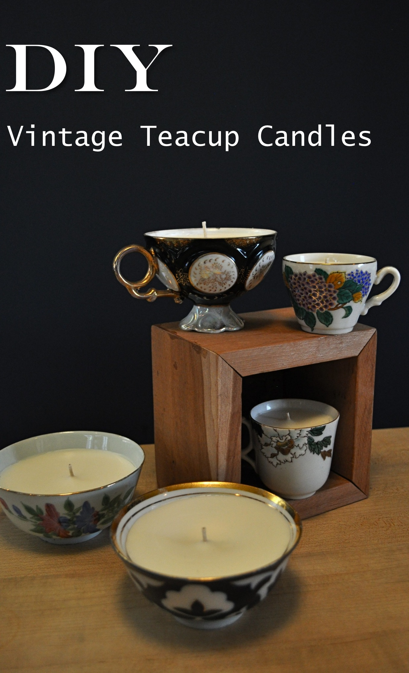 Red House West//DIY Vintage Teacup Candles