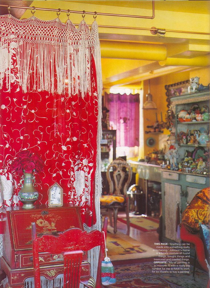 From Betsey Johnson's Home in Elle Decor, and found here.